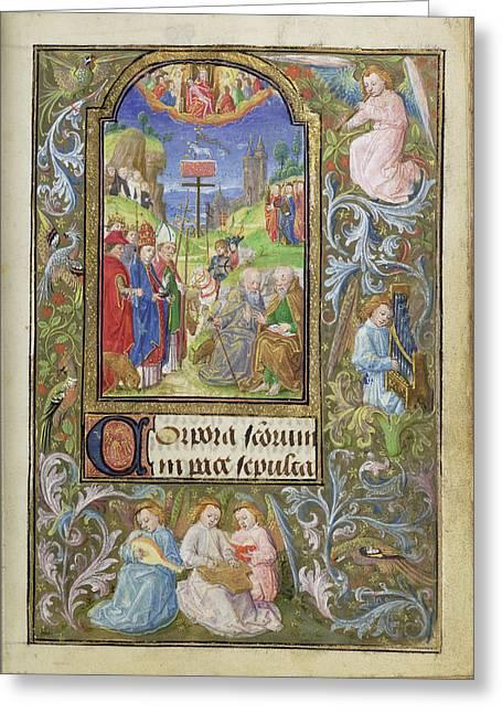 All Saints Lieven Van Lathem, Flemish, About 1430 - 1493 Greeting Card by Litz Collection