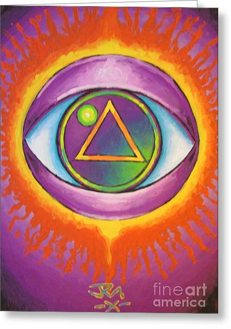 All Seeing Eye Greeting Card by Jedidiah Morley