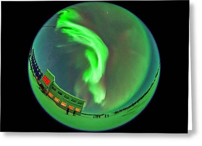 All-sky Aurora 3 Greeting Card by Alan Dyer