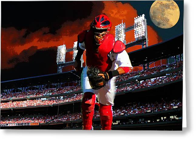 All Star Yadier Molina Greeting Card