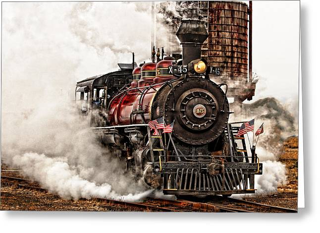 All Steamed Up Greeting Card by Mary Jo Allen