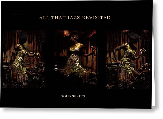 All That Jazz Revisited Greeting Card by Jerome Holmes