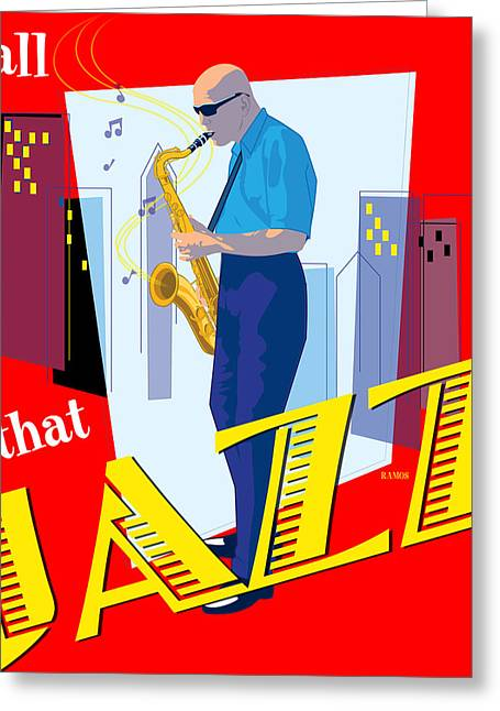 All That Jazz Greeting Card by Timothy Ramos