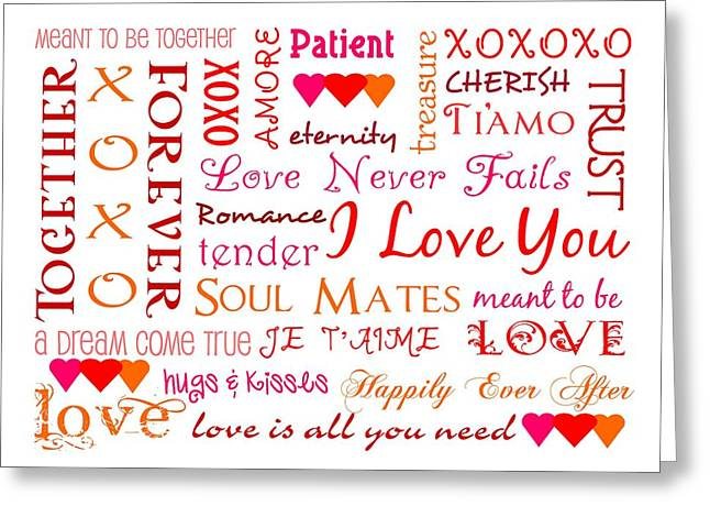 All The Colors Of Love Greeting Card by Jaime Friedman