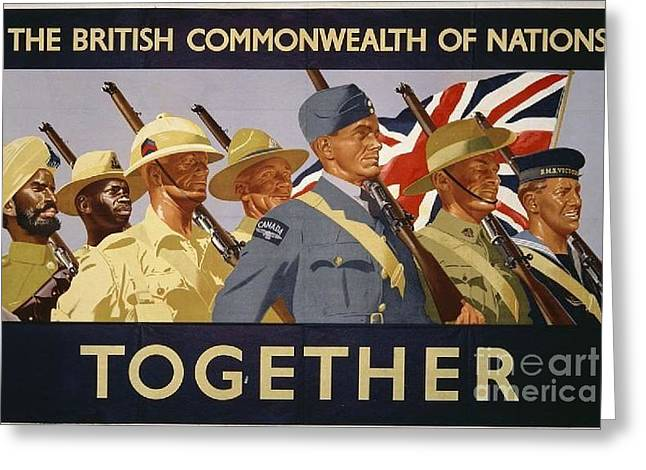 All The Commonwealth Countries Unite. Greeting Card by Paul Fearn