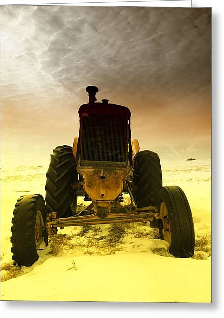 All The Feilds She Plowed Greeting Card by Jeff Swan