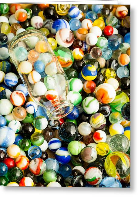 All The Marbles Greeting Card by Edward Fielding