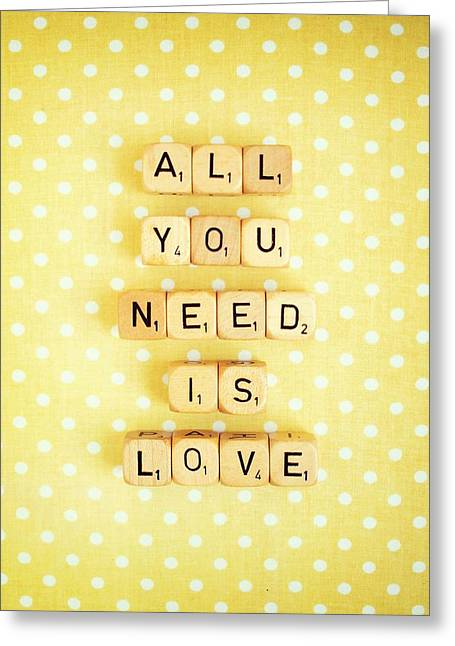 All You Need Is Love Greeting Card by Mable Tan