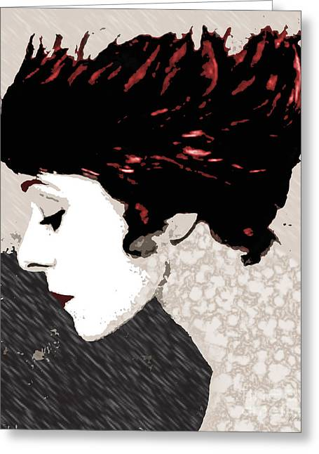 Alla Nazimova Greeting Card by Deena Athans