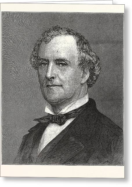 Allan Campbell, Comptroller Of New York Greeting Card by American School
