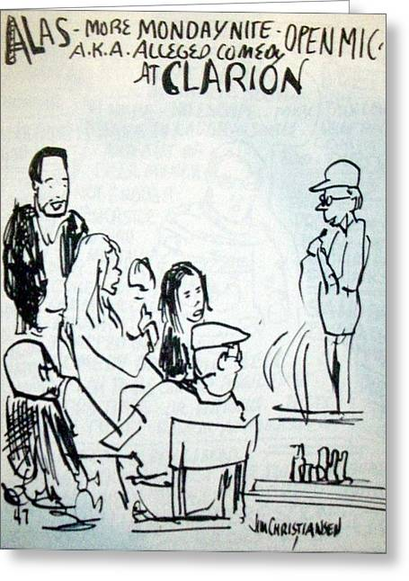 Alleged Comedy At Clarion Modesto  Greeting Card by James Christiansen