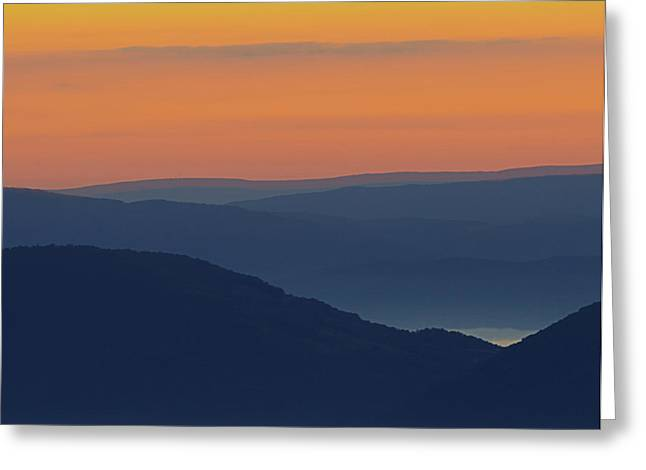 Allegheny Mountain Morning Greeting Card