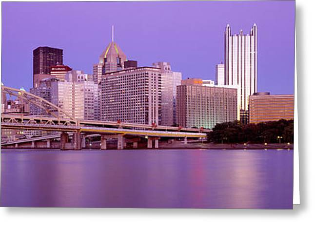 Allegheny River Pittsburgh Pa Greeting Card by Panoramic Images