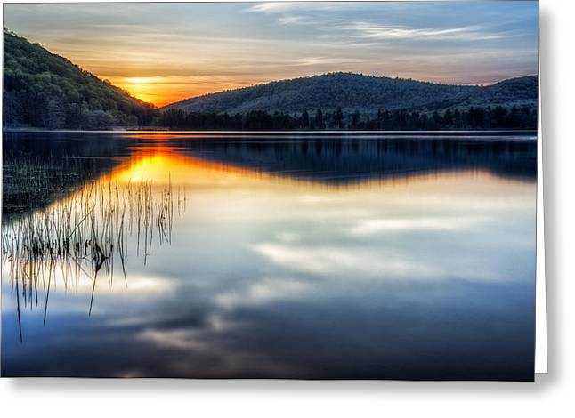 Allegheny Sunset Greeting Card by Mark Papke