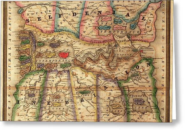 Allegorical Temperance Map Greeting Card