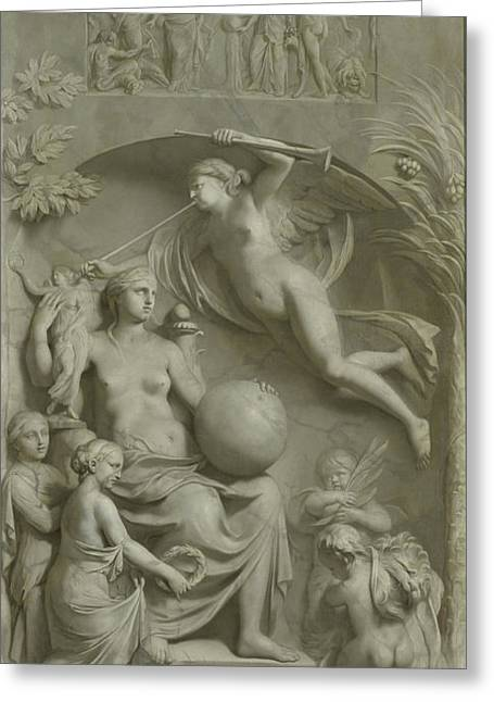 Allegory Of Fame, Gerard De Lairesse Greeting Card by Litz Collection