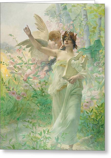 Allegory Of Music Greeting Card