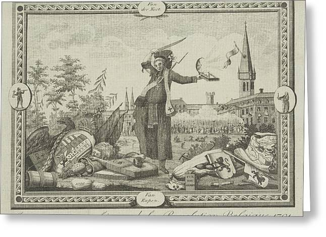 Allegory Of The Brabant Revolution, 1791 Greeting Card