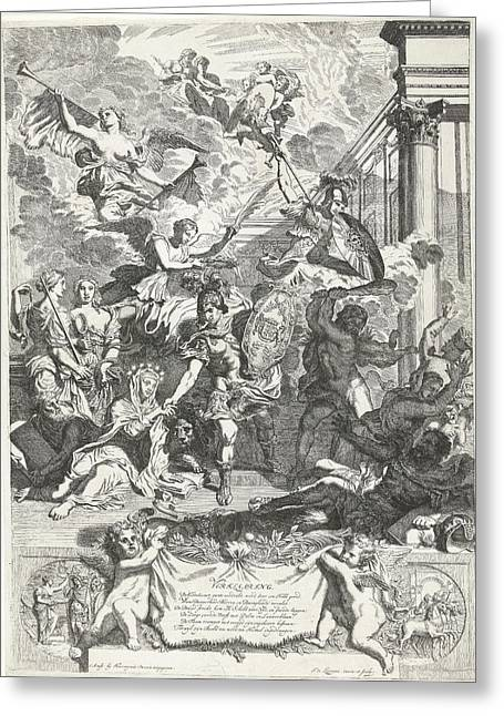 Allegory Of The Restoration Of Religion In England Greeting Card