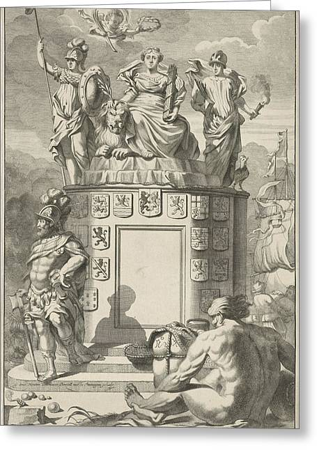 Allegory Of The Victorious Habsburg Netherlands Greeting Card by Artokoloro