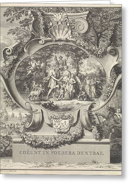 Allegory On The Occasion Of The Marriage Of Jacob Alewijn Greeting Card by Bernard Picart