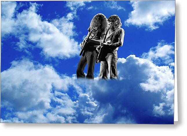 Greeting Card featuring the photograph Allen And Steve In Clouds by Ben Upham