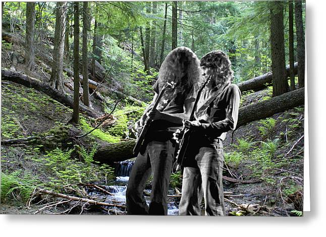 Greeting Card featuring the photograph Allen And Steve On Mt. Spokane 2 by Ben Upham