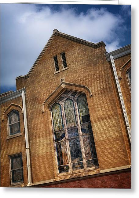 Allen Chapel Ame Church Fort Worth Greeting Card by Joan Carroll