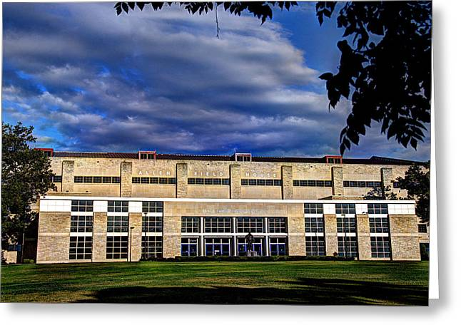 Allen Fieldhouse At Daybreak Greeting Card by Jean Hutchison