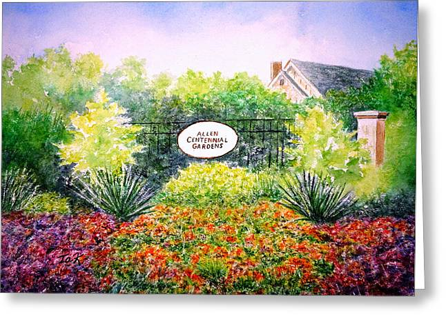 Greeting Card featuring the painting Allen Gardens by Thomas Kuchenbecker