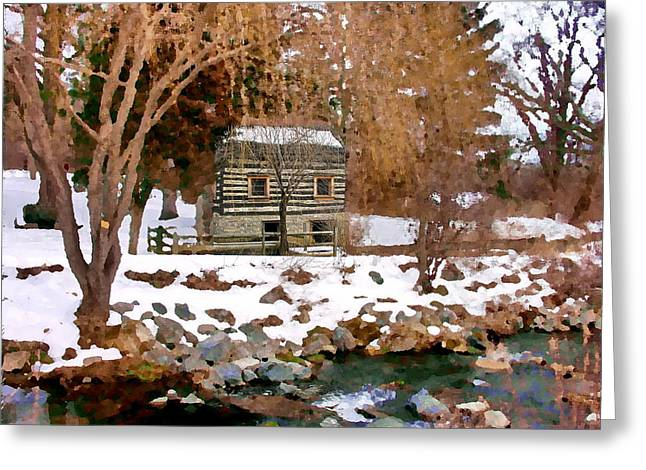 Allentown Pa Trexler Park Springhouse In Winter Greeting Card