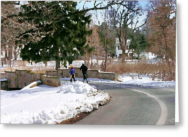 Allentown Pa Trexler Park Winter Exercise Greeting Card