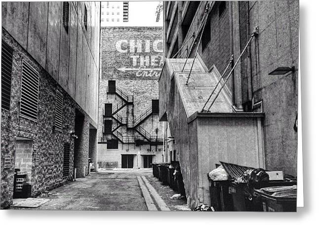 Alley By The Chicago Theatre #chicago Greeting Card