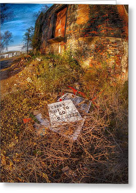 Alley Carry Out Greeting Card by Kimberleigh Ladd