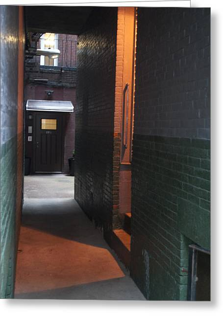 Alley Way Greeting Card by Gretchen Lally