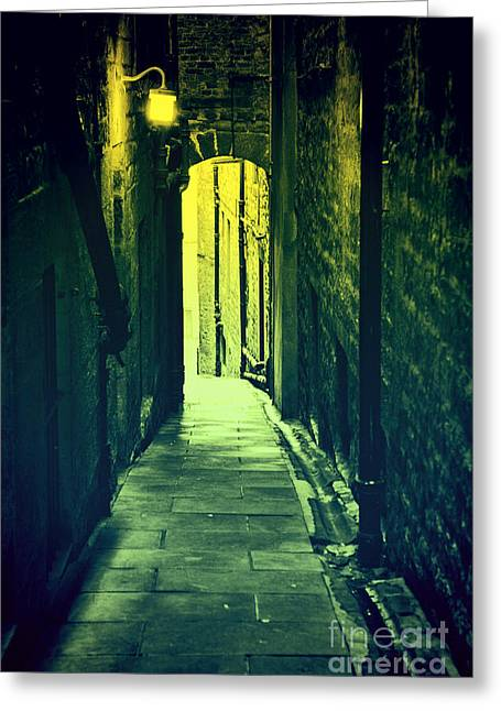Greeting Card featuring the photograph Alleyway by Craig B