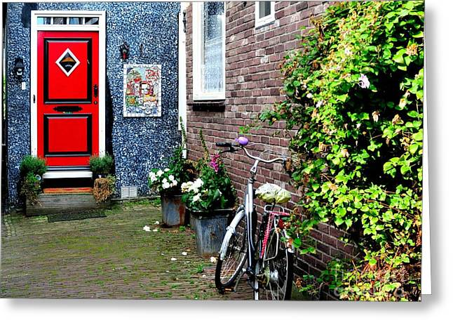 Greeting Card featuring the photograph Alleyway In Dutch Village by Joe  Ng
