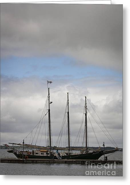 Alliance Charter Schooner Greeting Card by Teresa Mucha