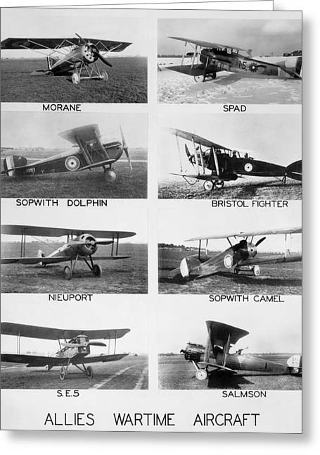 Allies World War I Aircraft Greeting Card