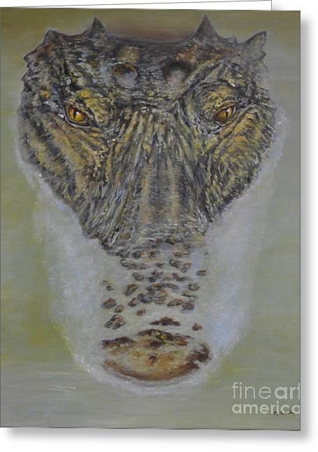 Alligator Alert Greeting Card