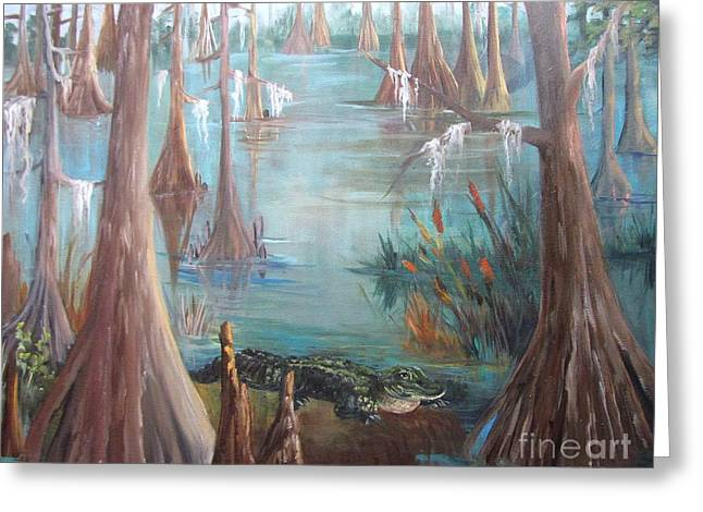 Alligator Bayou Greeting Card