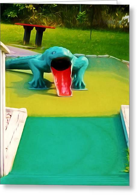 Alligator Greeting Card by Lanjee Chee