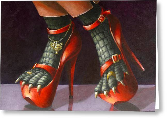 Alligator Shoes Greeting Card by Eva Folks
