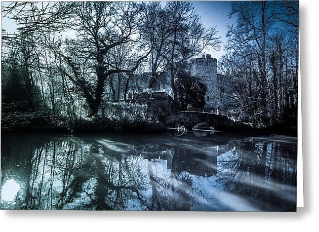 Allington Castle Greeting Card by Dawn OConnor