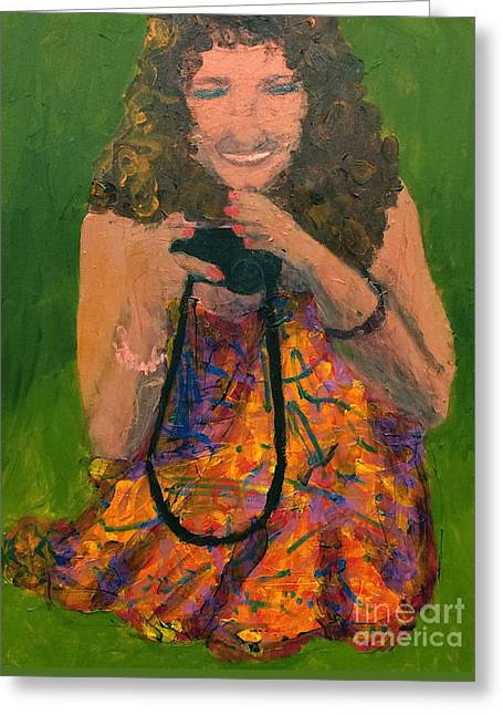 Greeting Card featuring the painting Allison by Donald J Ryker III