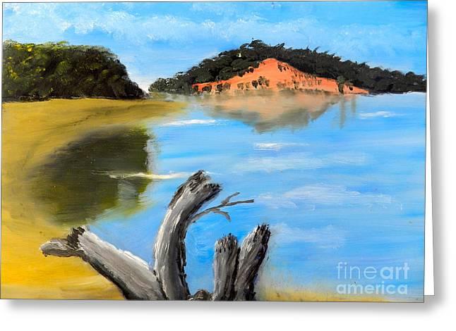 Allonah Beach Tasmania Greeting Card by Pamela  Meredith