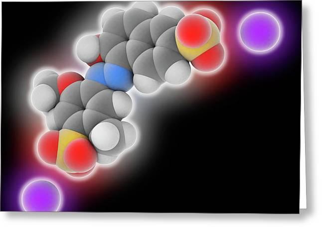 Allura Red Ac Food Dye Molecule Greeting Card by Laguna Design