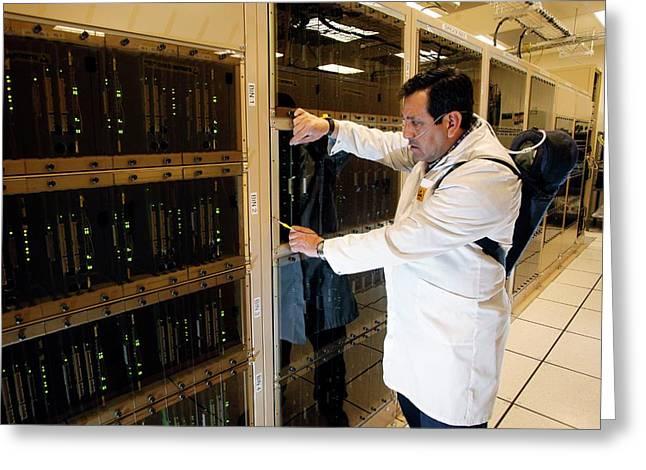 Alma Correlator Supercomputer Greeting Card by Carlos Padilla, Nrao/aui/nsf