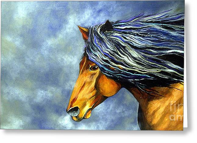 Greeting Card featuring the painting Almanzors Glissando  by Alison Caltrider