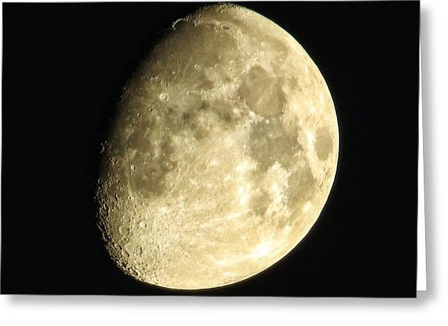 Greeting Card featuring the photograph Almost Blue Moon by Nikki McInnes